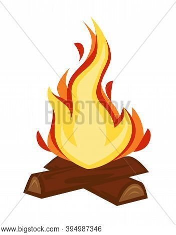 Campfire Or Bonfire Wood And Flame Stone Age Fire Discovery