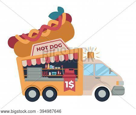 Fast Food Truck Hot Dog Cheap Street Meals