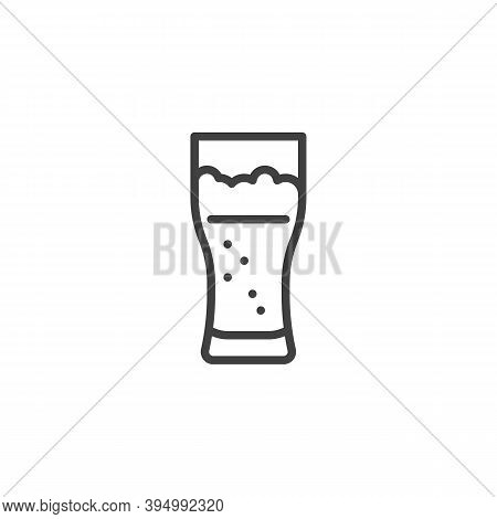 Pint Of Beer Line Icon. Linear Style Sign For Mobile Concept And Web Design. Beer Glass Outline Vect