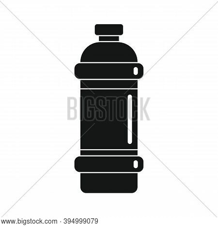 Plastic Bottle For Water Black Simple Icon. Vector Plastic Bottle For Water Black Simple Icon Isolat