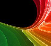 Colorful rendered fractal design (fantasy abstract background) poster
