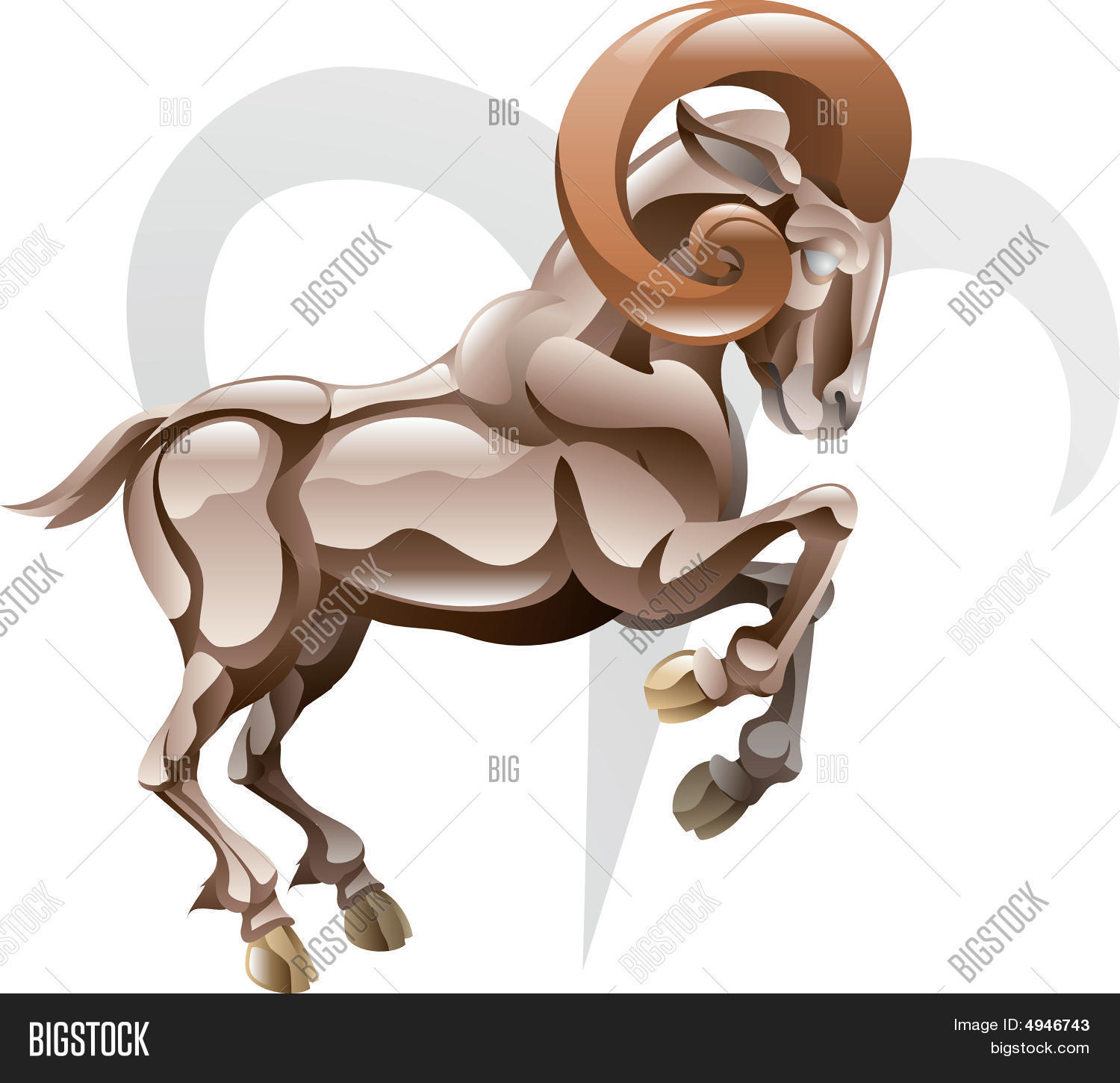 Aries Ram Star Sign Vector Photo Free Trial Bigstock