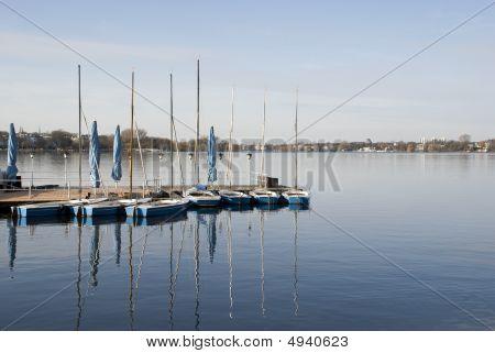 Recreational Boats On A Lake