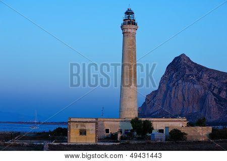 The lighthouse of Capo San Vito