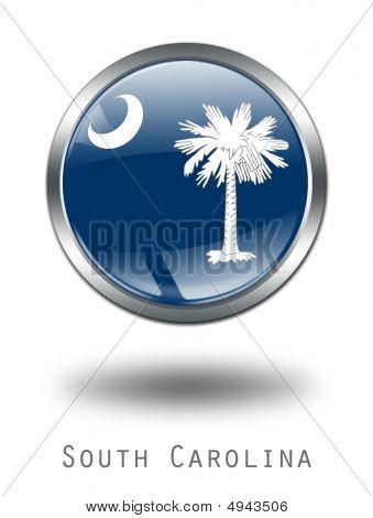 3D South Carolina  Flag Button