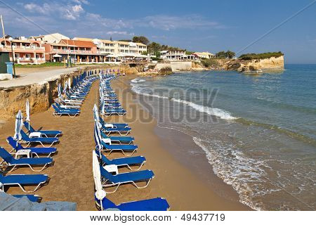 Sidari beach at Corfu island, Greece