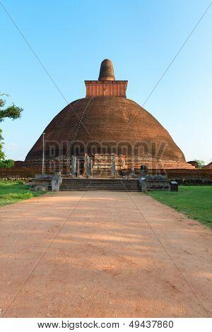 Jethawanaramaya or Jetavanarama dagoba (stupa). Anuradhapura Sri Lanka poster