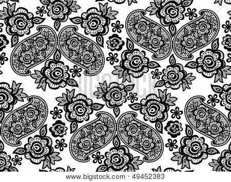 lace guipure pattern vector