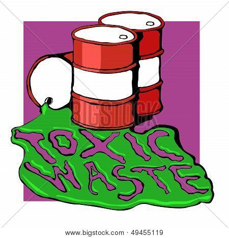 barrels of toxic waste