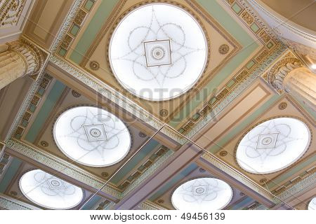 Details of classical ceiling in the Throne Room