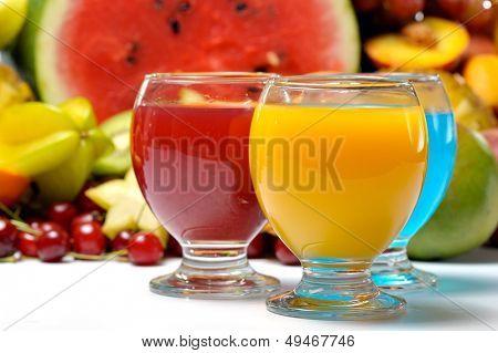 fresh fruits and natural juice