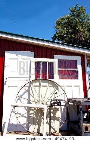 Antique Doors & Wheel
