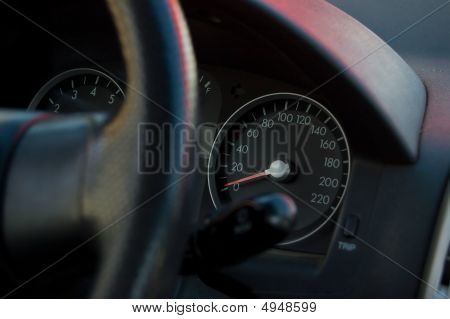 Speedmeter Of The Car