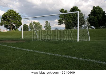 Soccer Net from Low View