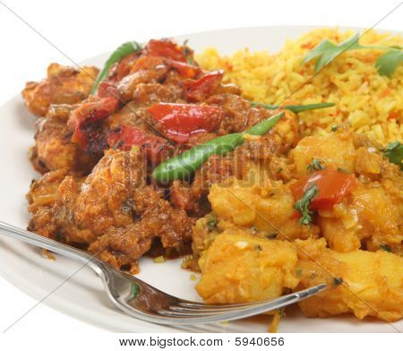 Indian Takeaway Curry Meal