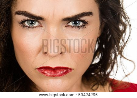 Close-up Of Annoyed Angry Woman