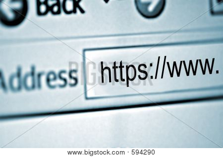Closeup : Secure Website : WWW
