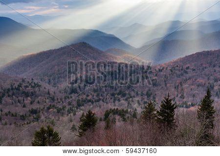Southern Appalachian Mountain Sun
