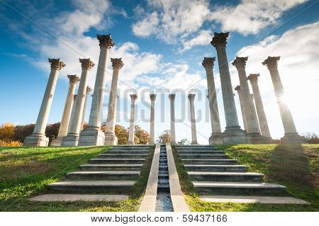 Washington DC National Capitol Columns US National Arboretum