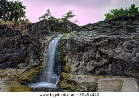 waterfall, Stones and water