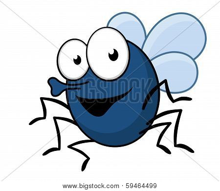 Flying fly insect with a proboscis