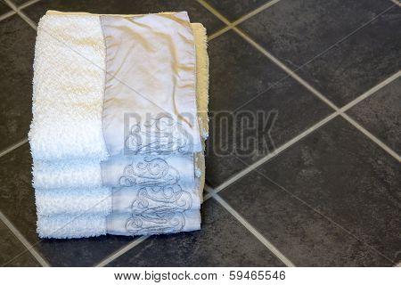 Towels In Bathroom Floor