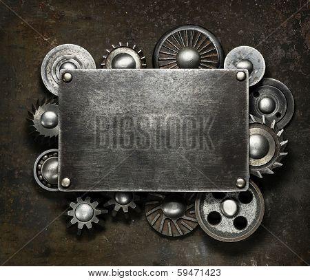 Industrial dark metal background