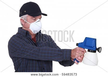 Man with a paintsprayer