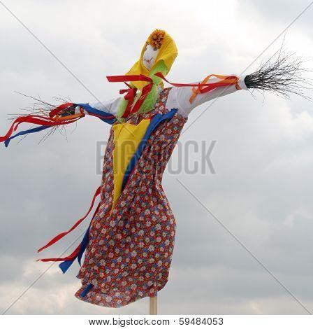 Effigy Maslenitsa Before Burning (maslenitsa - Traditional Celebration In Russia)