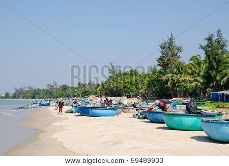 Vietnamese Fishers After Fishing