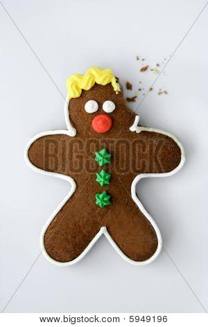 Horrified eaten gingerbread man