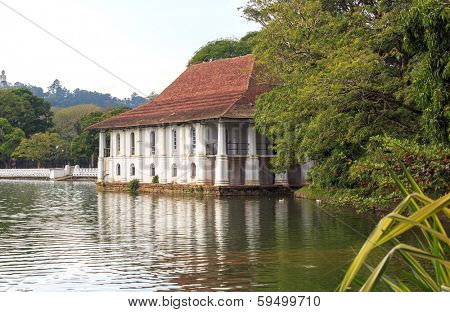Lake near Temple of Tooth Relic, Kandy, Sri Lanka