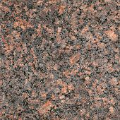 Seamless red granite stone closeup background texture poster