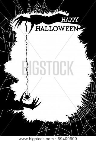 Happy Halloween greeting card or party flyer