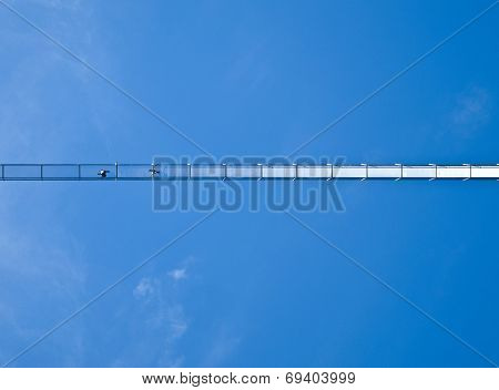 swing bridge seen from below