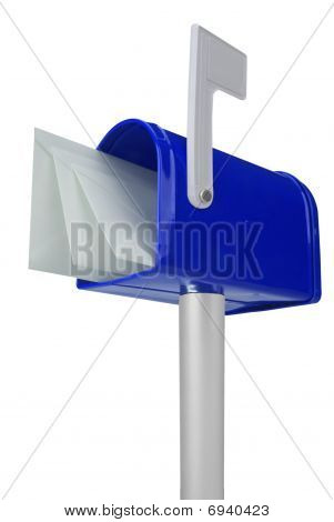 Mailbox With Flag