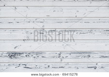 Wood Planks Painted White, Vintage Look