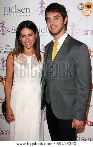 LOS ANGELES - AUG 1:  David Lambert, and mother at the Imagen Awards at the Beverly Hilton Hotel on August 1, 2014 in Los Angeles, CA