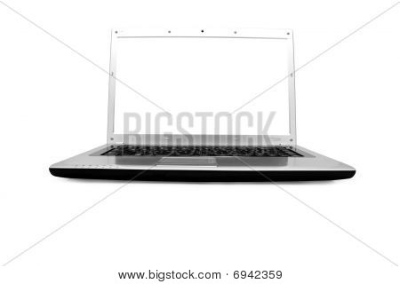 Laptop Computer With A White Screen