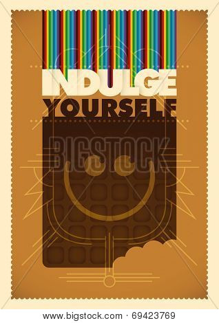 Conceptual illustration with chocolate. Vector illustration.
