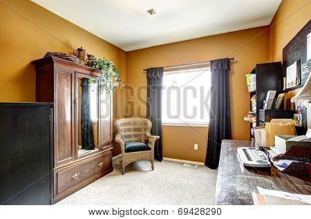 Office Room Interior With Old Furniture