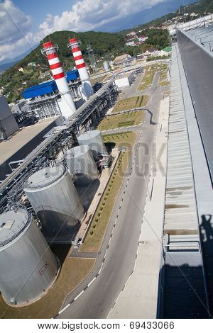thermal power plant, industrial area