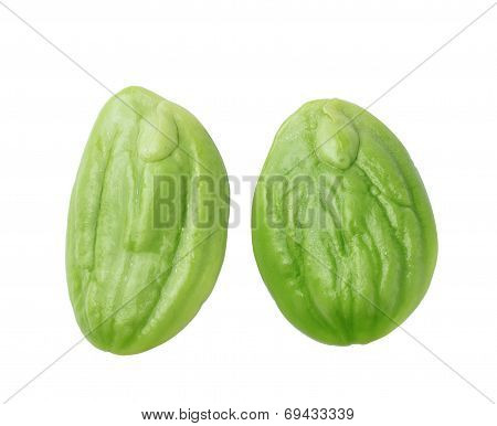 Sato Seeds Isolated On White Background
