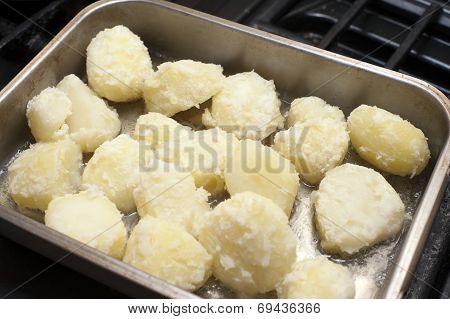 Preparing Roast Potatoes