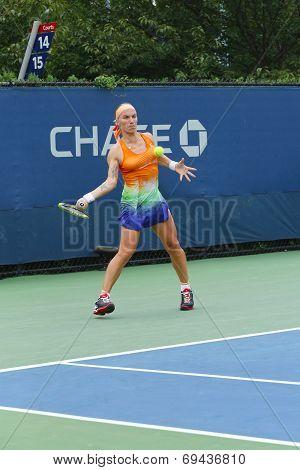 Svetlana Kuznetsova from Russia during  US Open 2013 third round match