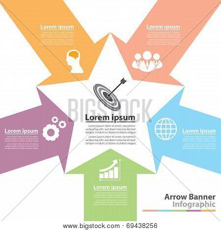 Arrow Banner Infographic