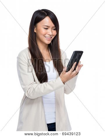 Asian young woman use mobile phone