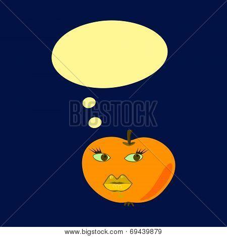 Communication bubble - yellow apple