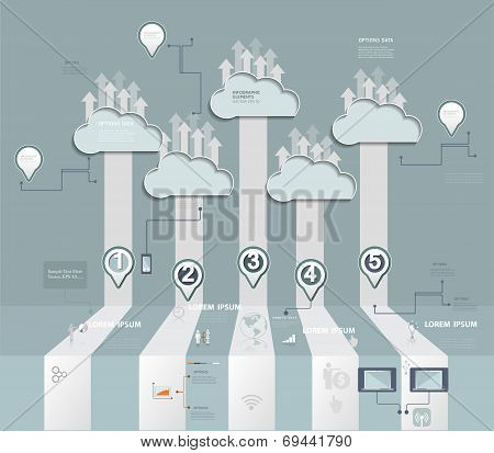 Cloud Hosting.Cloud Computing concept with Icon,