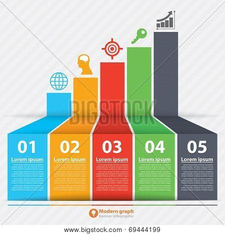 Modern Graph Banner Infographic